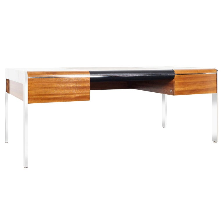 Vintage Stainless Steel Executive Desk by Richard W. Thompson For Sale