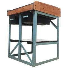 Vintage Standard Engineering Cobblers / Shoe Maker Bench Industrial Table, 1930s