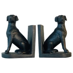 Vintage Standing Dog Bookends, Pair