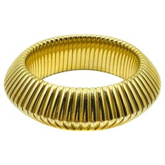 Vintage Statement Gold Omega Bangle 1980s