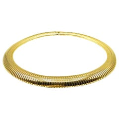 Vintage Statement Gold Omega Style Collar 1980s