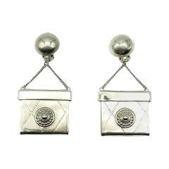 Vintage Statement Handbag Earrings 1980s
