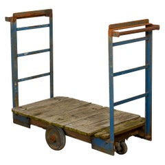 Vintage Station Porters Luggage Trolley, 20th Century