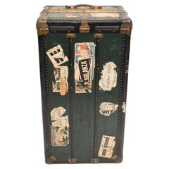 Vintage Steamer Trunk Luggage Case Harrison and Co New York