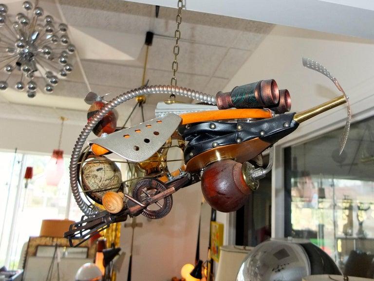 Vintage Steampunk Kinetic Fantasy Flying Machine For Sale 4