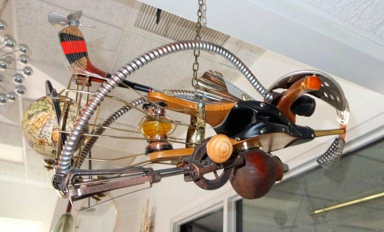 Vintage Steampunk Kinetic Fantasy Flying Machine For Sale 5