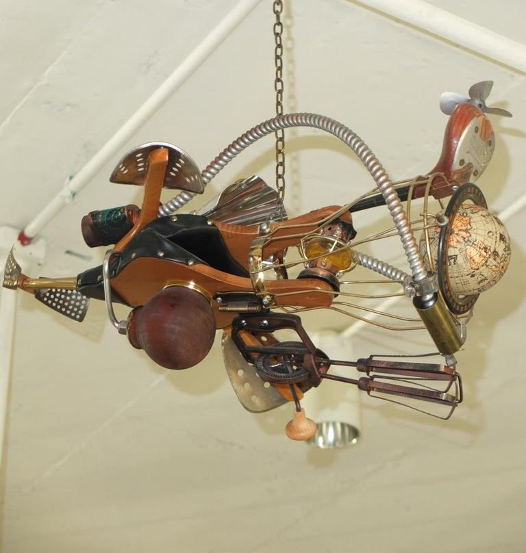 Vintage Steampunk Kinetic Fantasy Flying Machine For Sale 6