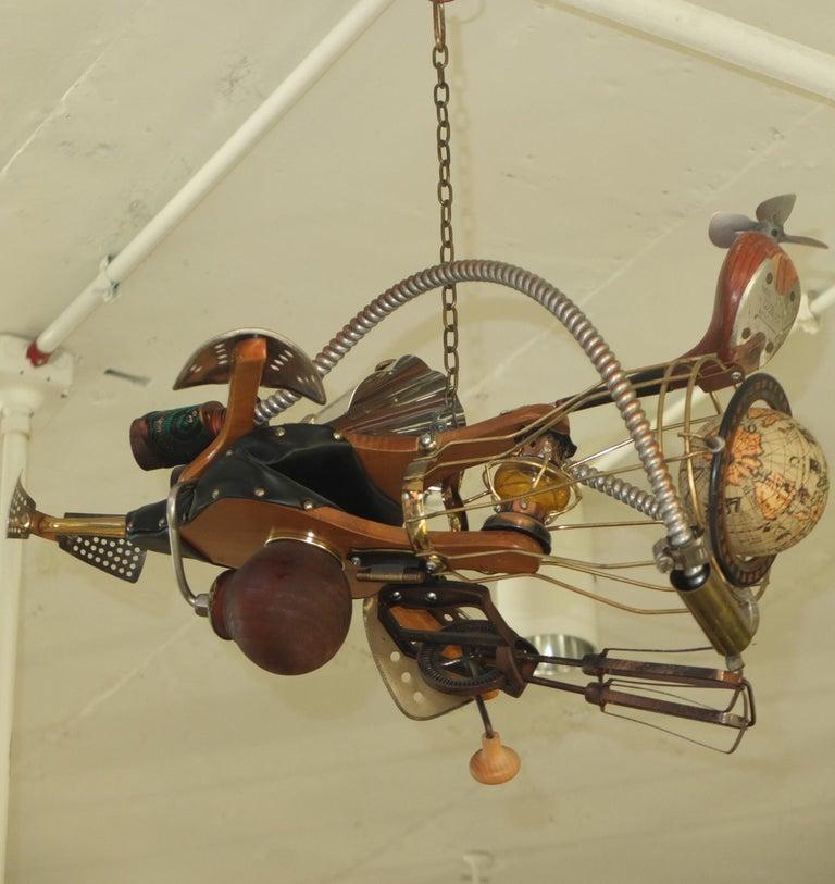 Vintage Steampunk Kinetic Fantasy Flying Machine For Sale 7