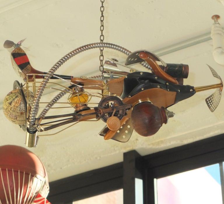 Vintage Steampunk Kinetic Fantasy Flying Machine For Sale 8