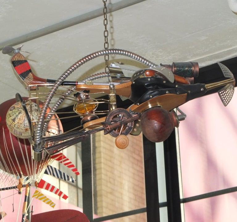 Vintage Steampunk Kinetic Fantasy Flying Machine For Sale 9
