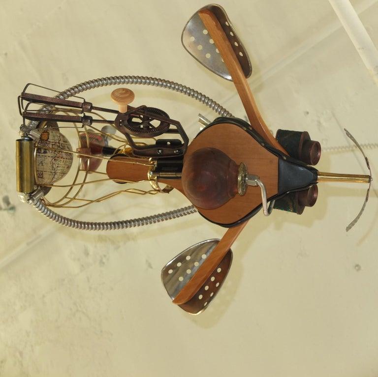 Vintage Steampunk Kinetic Fantasy Flying Machine For Sale 10