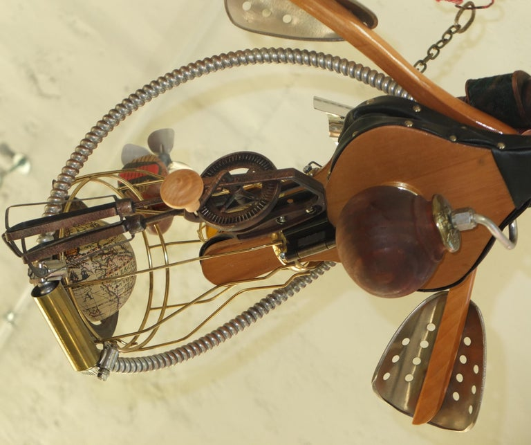 Vintage Steampunk Kinetic Fantasy Flying Machine For Sale 11