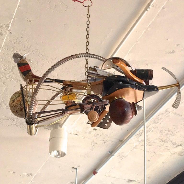 Vintage Steampunk Kinetic Fantasy Flying Machine For Sale 12