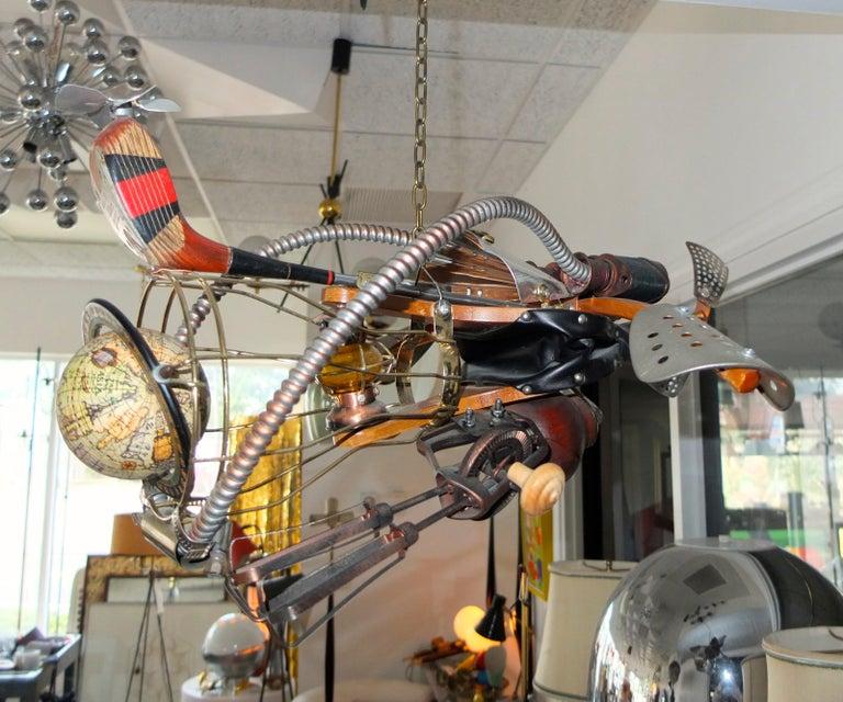 Vintage Steampunk Kinetic Fantasy Flying Machine For Sale 3