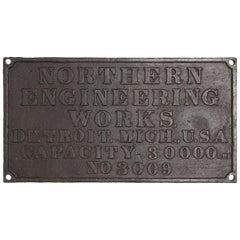 Vintage Steel Engineering Sign