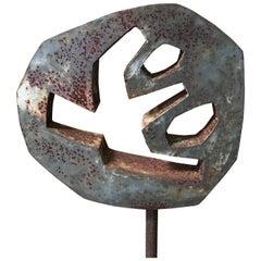 Vintage Steel Garden Sculpture
