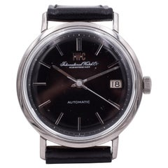 Vintage Steel IWC International Watch Company Automatic Wristwatch, 1960s