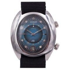 Vintage Steel LeCoultre Memovox HPG Automatic Wristwatch, 1970s