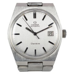 Vintage Steel Omega Automatic Wristwatch, 1970s