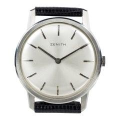 Vintage Steel Zenith Wristwatch, 1960s
