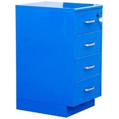 Vintage Steelcase Aktenschrank, nachgearbeitet in blau