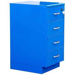 Vintage Steelcase File Cabinet, Refinished in Blue