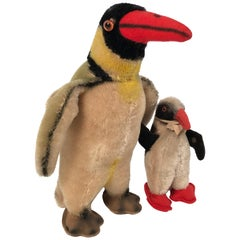 Vintage Steiff Penguin and Chick