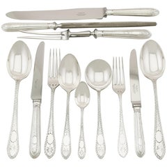 Vintage Sterling Silver Canteen of Cutlery for Six Persons