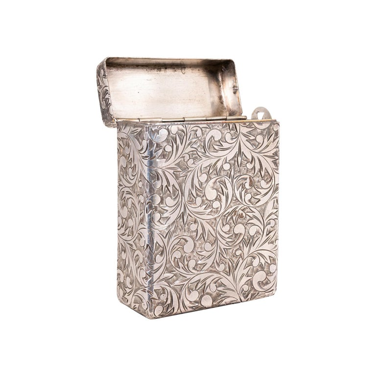 Art Deco Vintage Sterling Silver Cigarette Holder For Sale