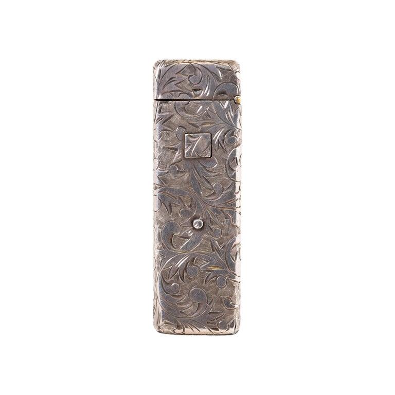 Women's or Men's Vintage Sterling Silver Cigarette Holder For Sale