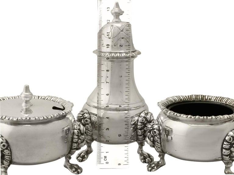 Elizabethan Vintage Sterling Silver Condiment Set, 1967 For Sale