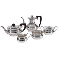 Vintage Sterling Silver English Sheffield Five Pieces Tea or Coffee Service