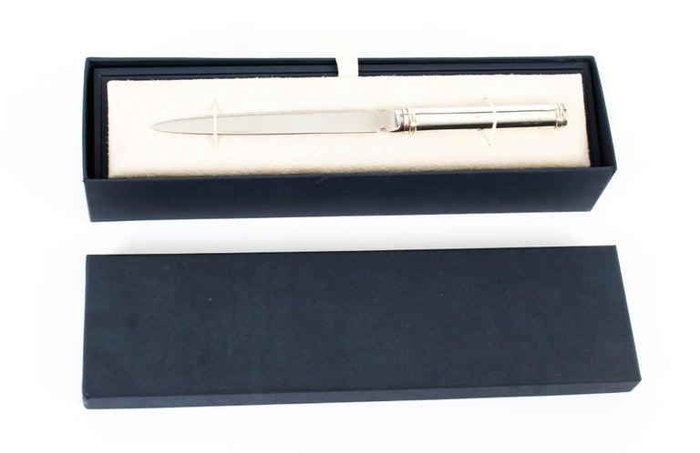 Vintage Sterling Silver Paper Knife Letter Opener Gift, 20th Century For Sale 7