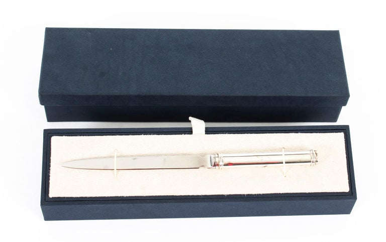 Vintage Sterling Silver Paper Knife Letter Opener Gift, 20th Century For Sale 2