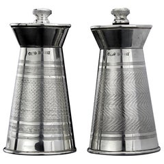 Vintage Sterling Silver Salt and Pepper Grinders