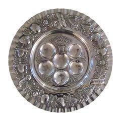 Vintage Sterling Silver Seder Plate