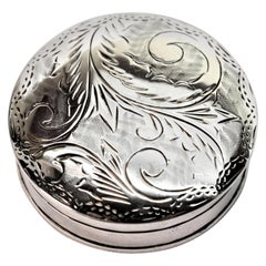 Vintage Sterling Silver Snuff Pill Box