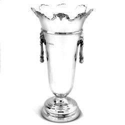 Vintage Sterling Silver Vase 1923 T