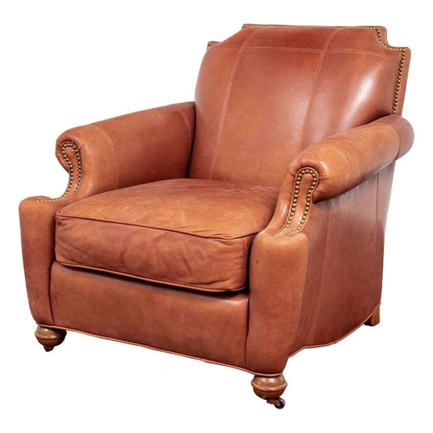 Vintage Stickley Leather Club Chair