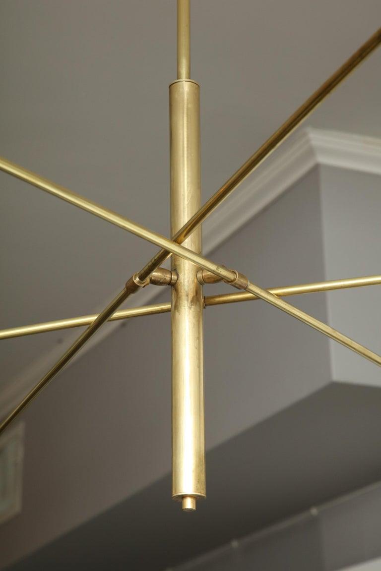 20th Century Vintage Stilnovo Triad Cantilever Chandelier For Sale