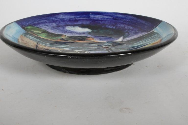 Mid-Century Modern Vintage Stonelain Associated American Artists Ceramic Charger, Nicolai Cikovsky For Sale