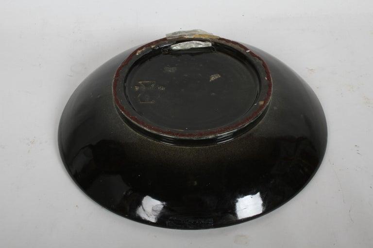 Vintage Stonelain Associated American Artists Ceramic Charger, Nicolai Cikovsky For Sale 2