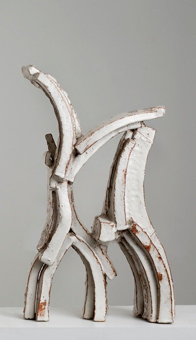 Hertha Hillfon (Swedish 1921–2013) Ceramic sculpture in three parts, circa 1965 Stoneware, white glaze Measures: 23