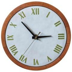 Vintage Stoneware Mahogany Wall Clock