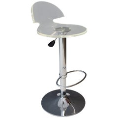 Vintage Stool Lucite Chrome