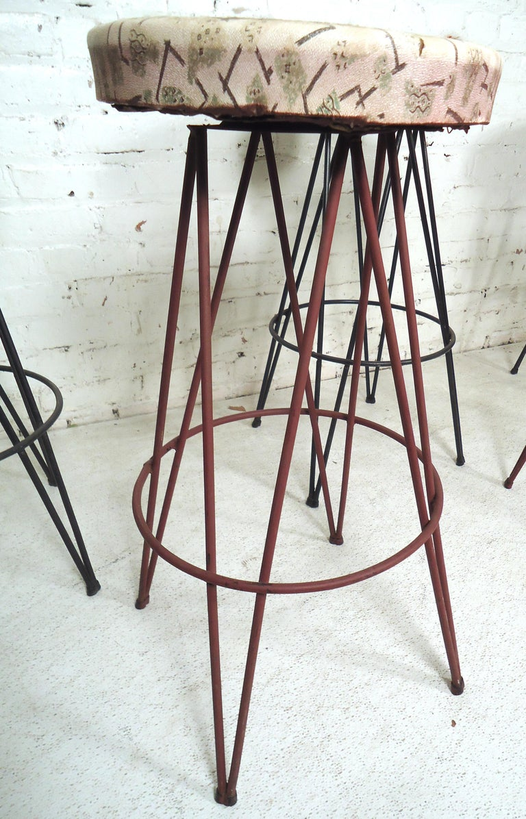 Vintage Stools With Hairpin Legs For Sale At 1stdibs