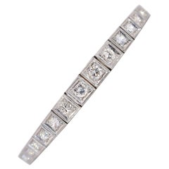 Vintage Straight Line Diamond Bracelet