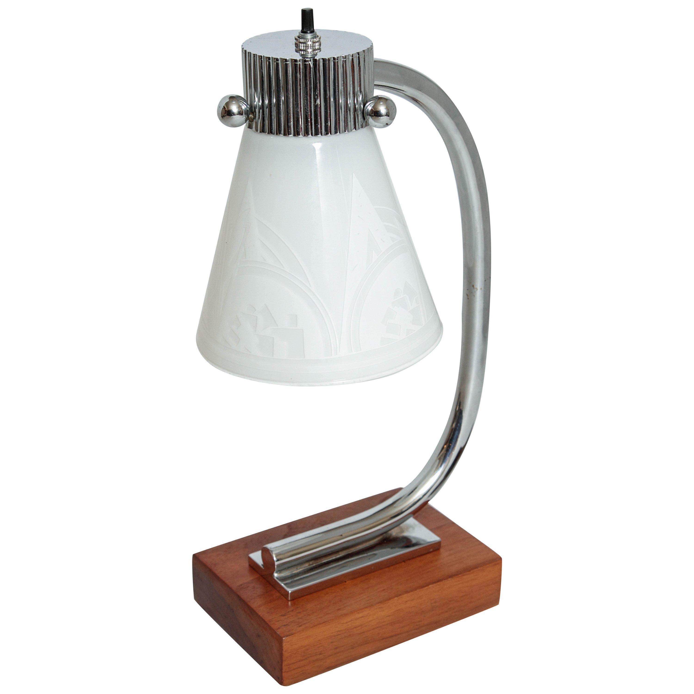 Vintage Streamline Machine Age Desk Lamp