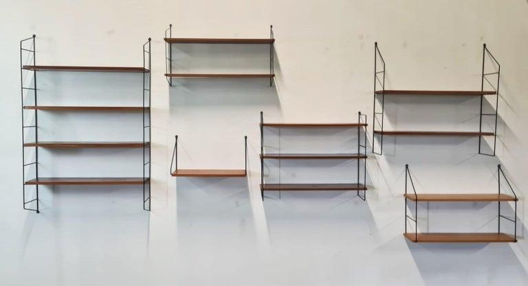 Vintage String Book Shelves, 1960s 7