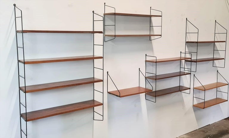 Vintage String Book Shelves, 1960s 10